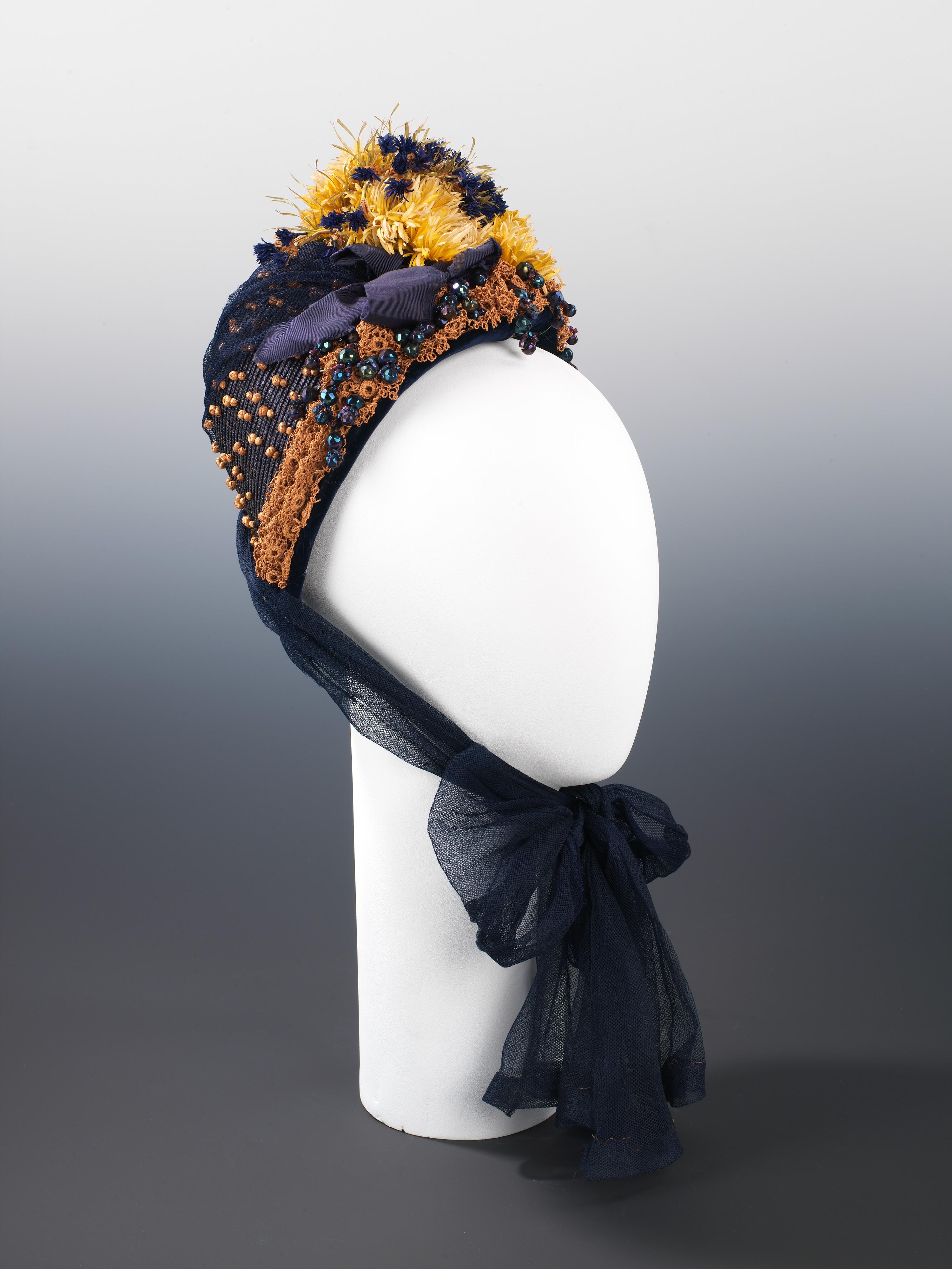 1886 aitken son company straw and silk bonnet via met museum