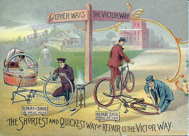 1894 advertisement for the victor bicycle made by the overton wheel company