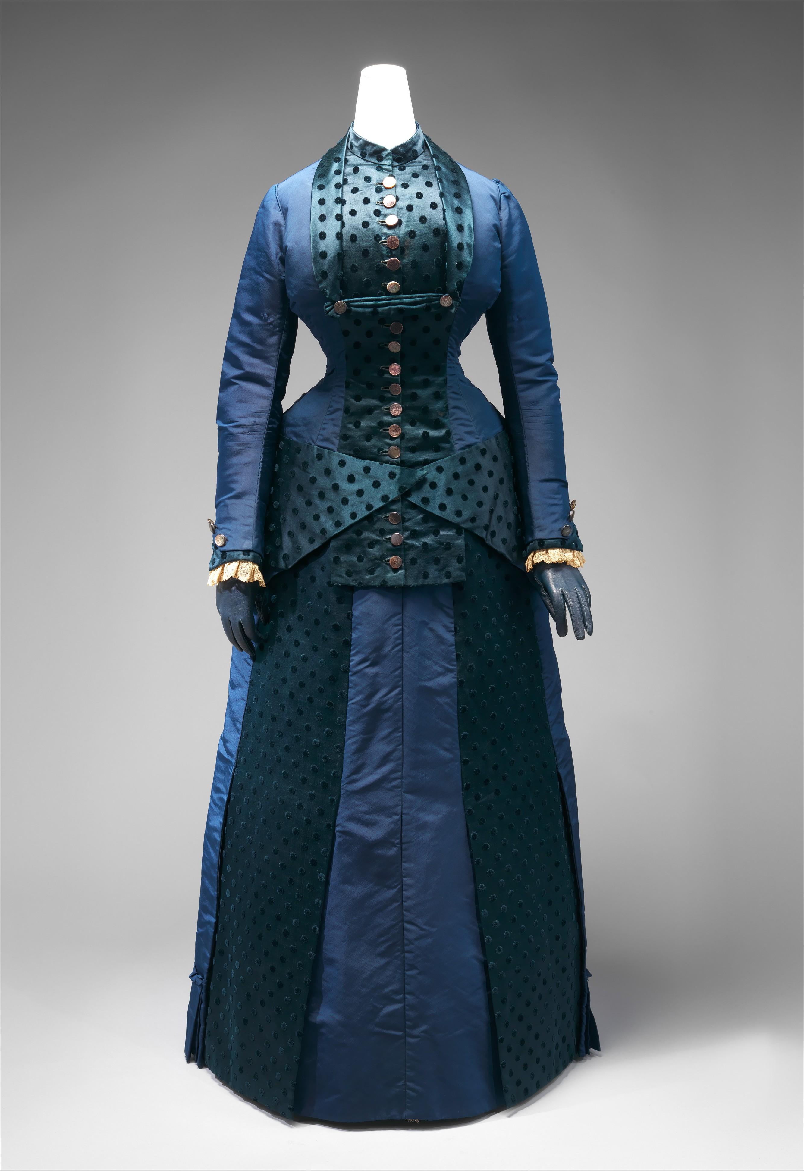 early 1880s american dress via met museum