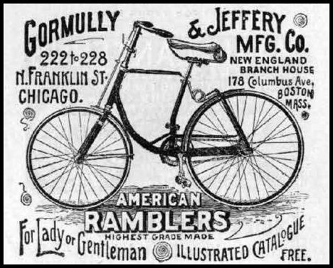 gormully jeffery rambler bicycle advert 1891