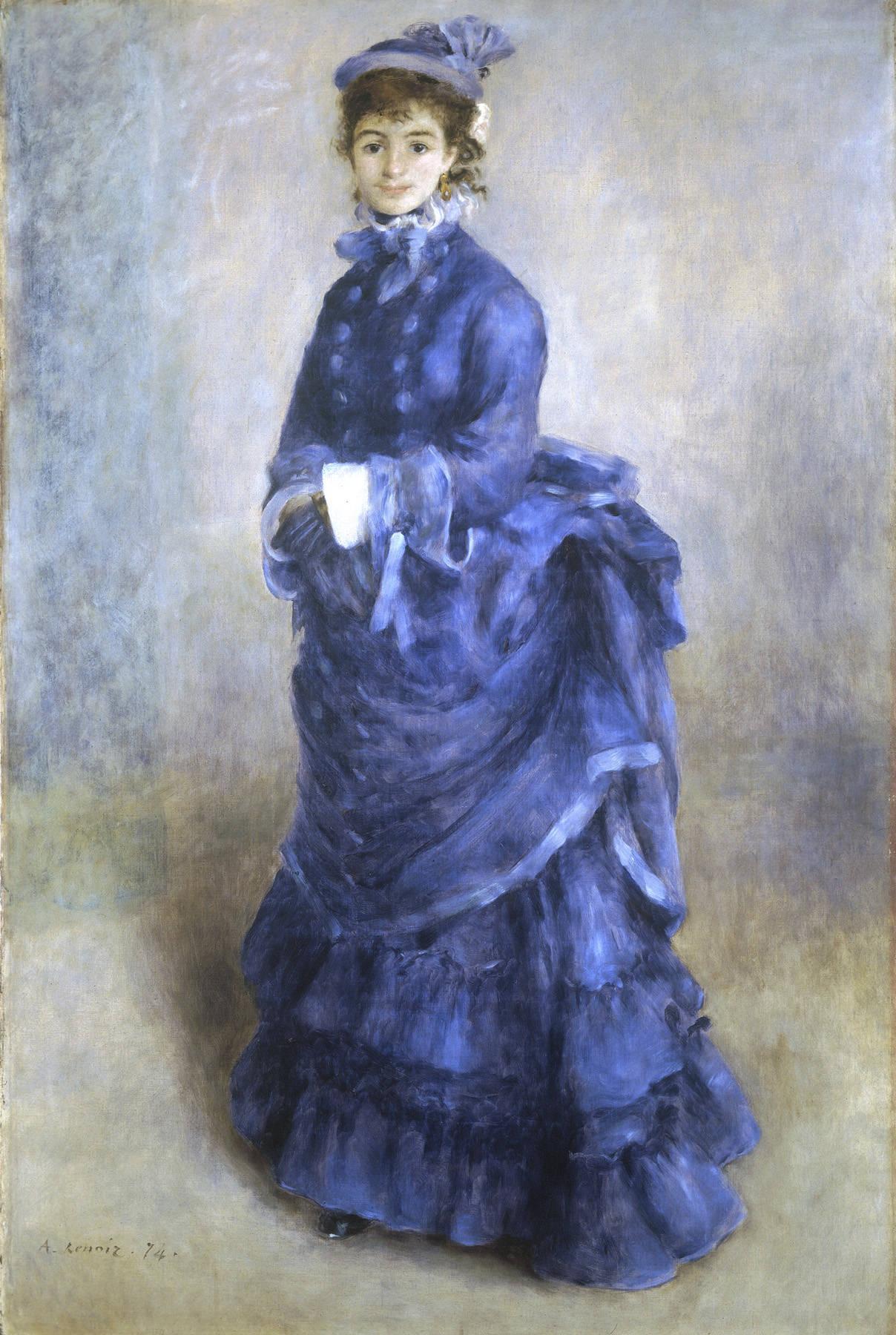 la parisienne the blue lady by pierre auguste renoir 1874