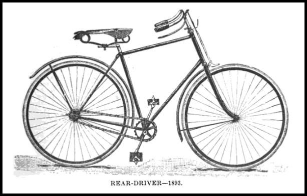 rear driver bicycle the modern bicycle 1896