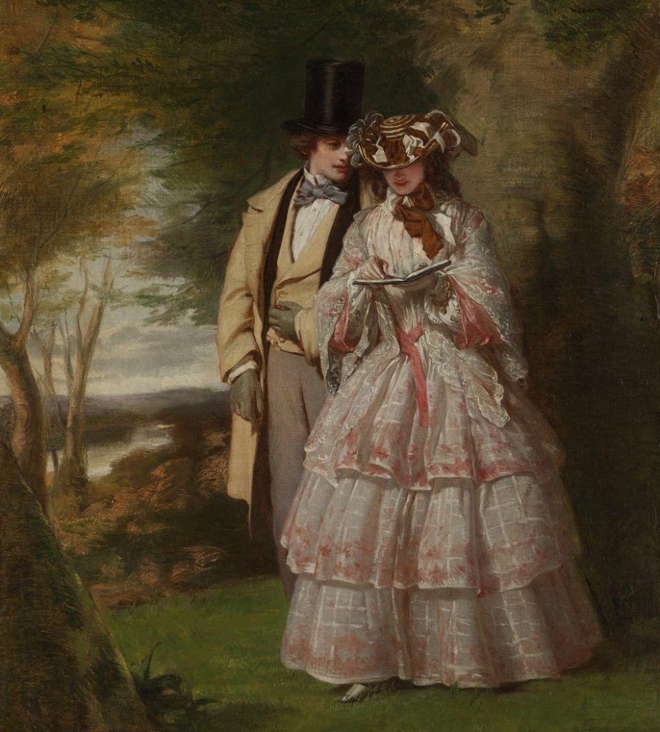 The Two Central Figures in Derby Day by William Powell Frith, 1860.(Met Museum)