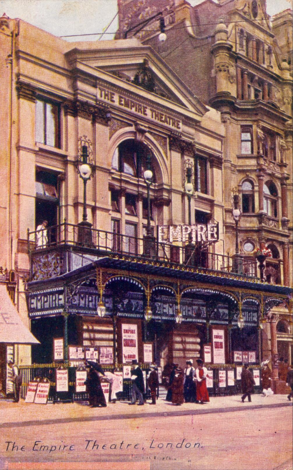 london empire theatre leicester square postcard 1905