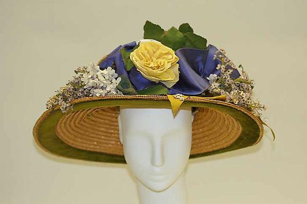 1910s american or european straw hat via met museum