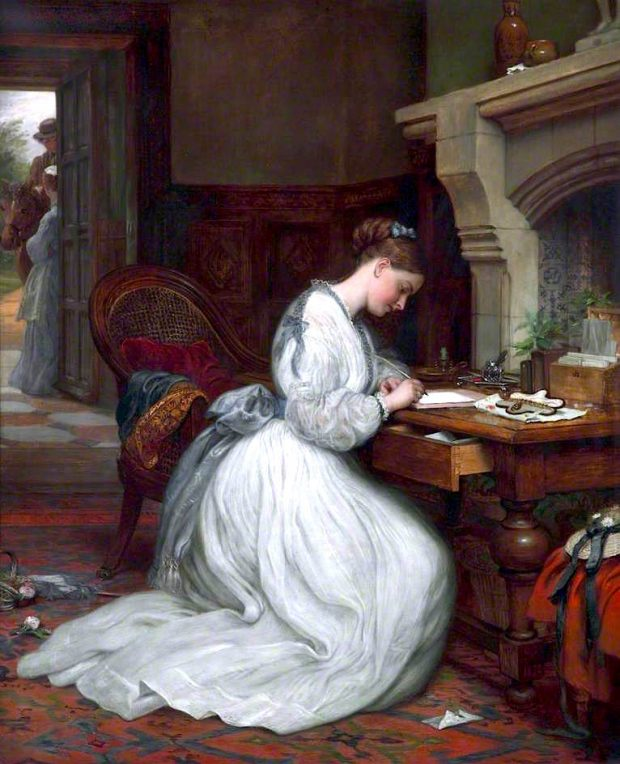Yes or No by Charles West Cope 1872 e1626161997290