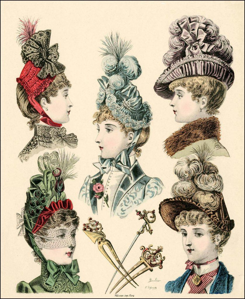 bonnets journal des demoiselle 1886 plate 145 via met museum