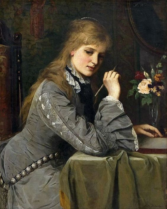 letterwriter by johanne mathilde dietrichson norwegian 1837 1921