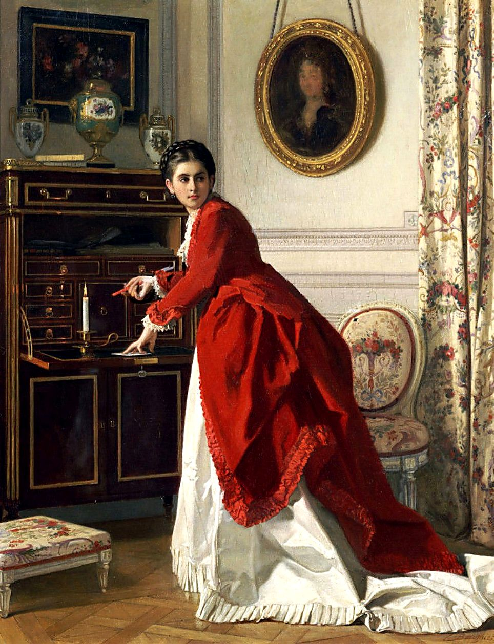 the letter by charles baugniet 1814 1886