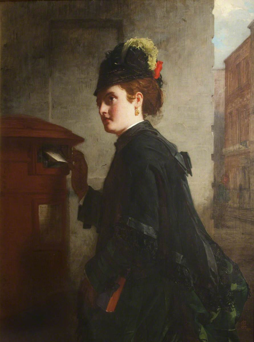 the pillar box by alexander johnston 1876 via grundy art gallery