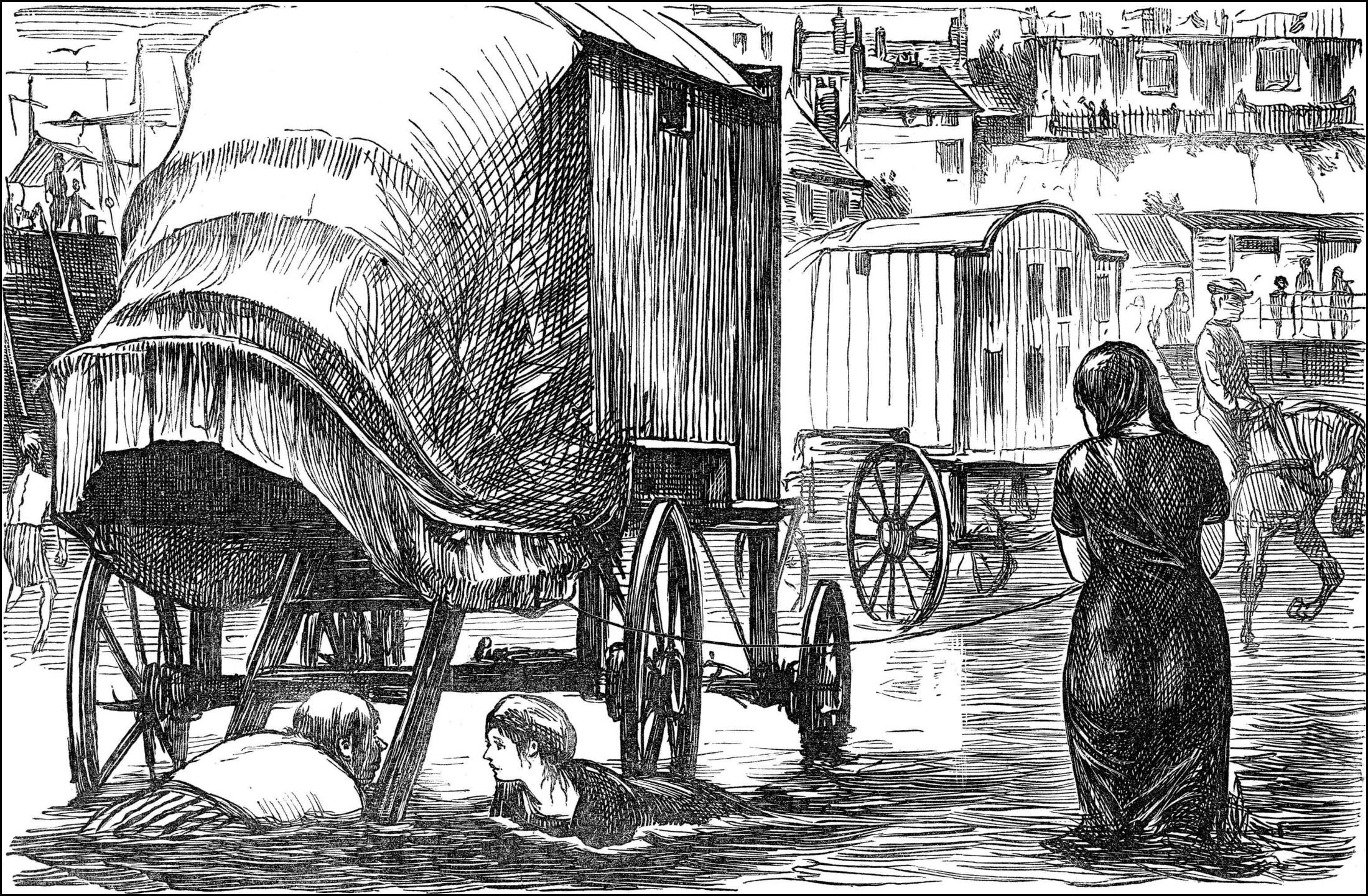 pray excuse me madam my bathing machine i think punch 1870