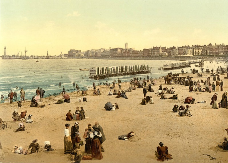 the harbor margate england 1890 1900 via library of congress