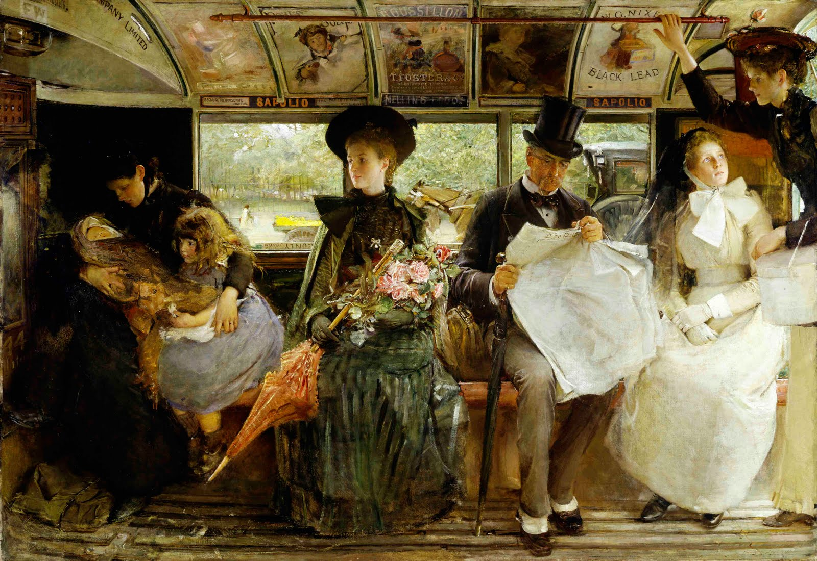 The Bayswater Omnibus by George William Joy (1855-1925)