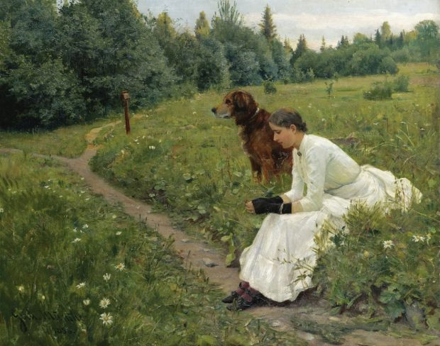 Idyll by Gerhard Munthe 1886 e1499935312412