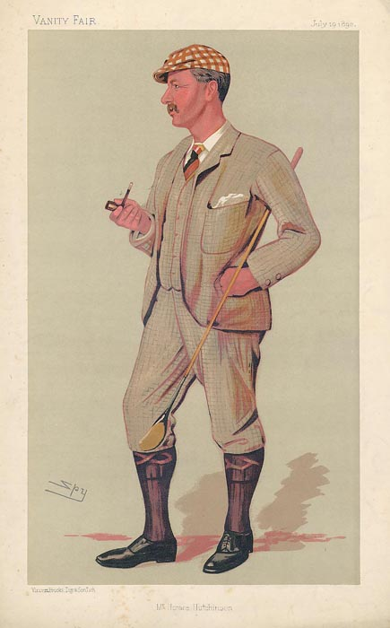 Mr. Horace Gordon Hutchinson by Leslie Ward Vanity Fair 1890
