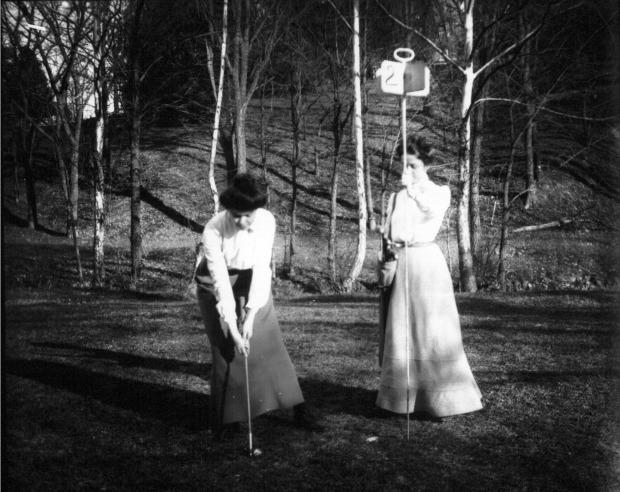 Western College Women Golfing n.d. photo by Frank Snyder