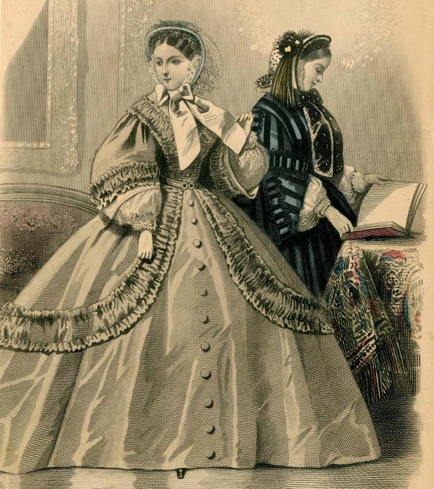 Day Dresses Les Modes Parisiennes 1861