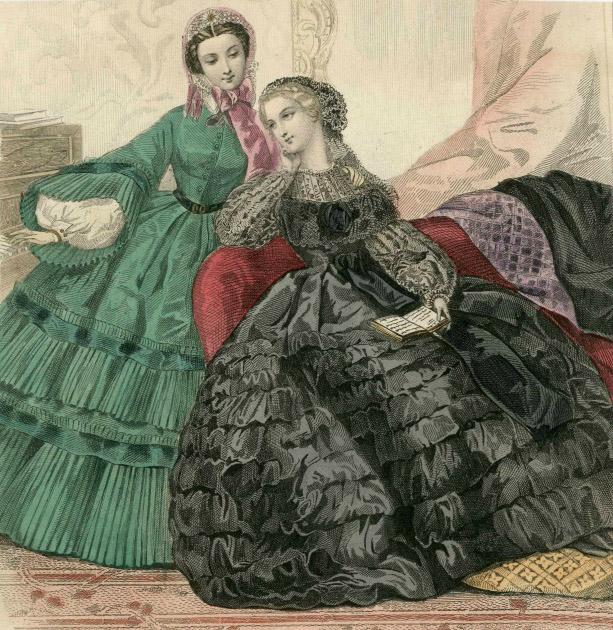 Flounced Dresses Journal des Jeunes Personnes 1860 2