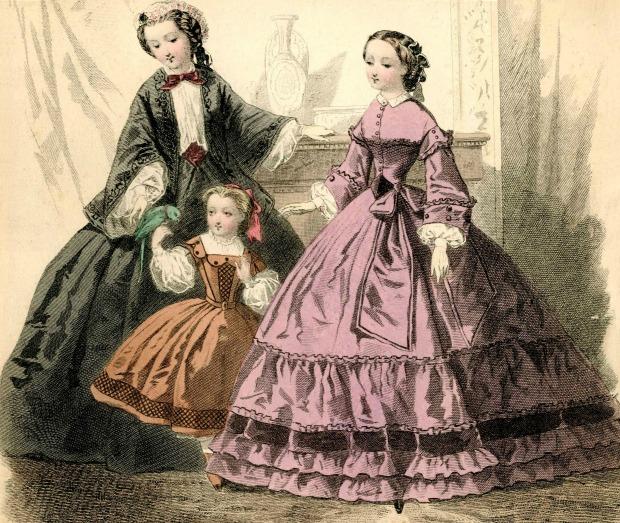 Journal des Demoiselles Ocober 1860 via Met Museum