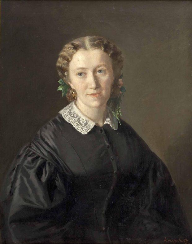 Portrait of a Lady by Ferdinand Krumholz 1861 e1503269494361
