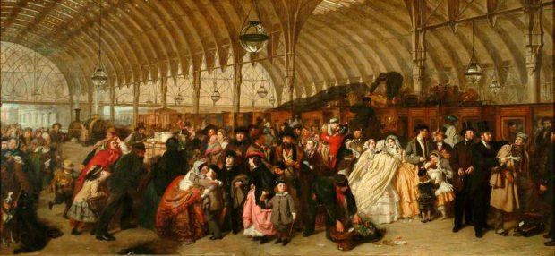 The Railway Station by William Powell Frith 1862 e1502736463871