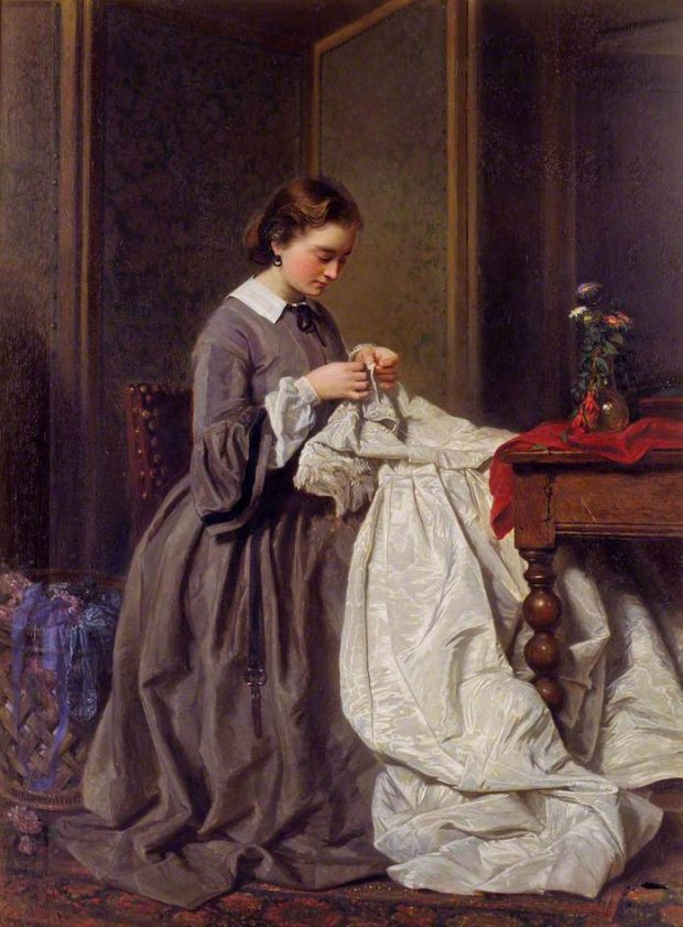 The Seamstress by Charles Baugniet n.d. e1503270228509