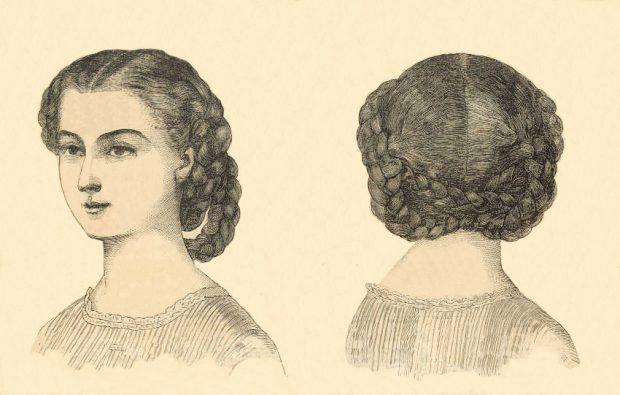 Coiffures Godeys Ladys Book July 1860 e1505081500472
