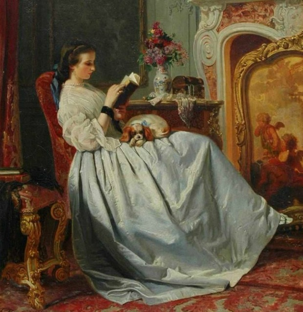 The Reader by Charles Baugniet n.d. 1
