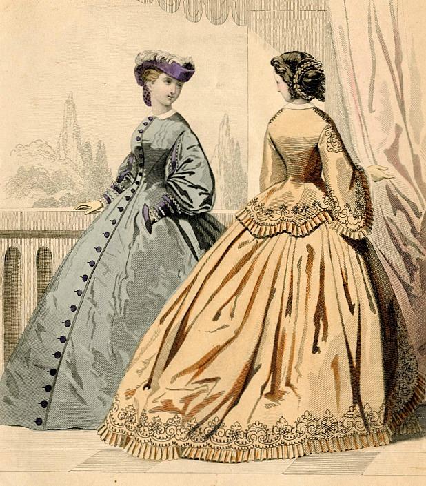 Womens Hairstyles Petit Courrier des Dames 1861 via Met Museum