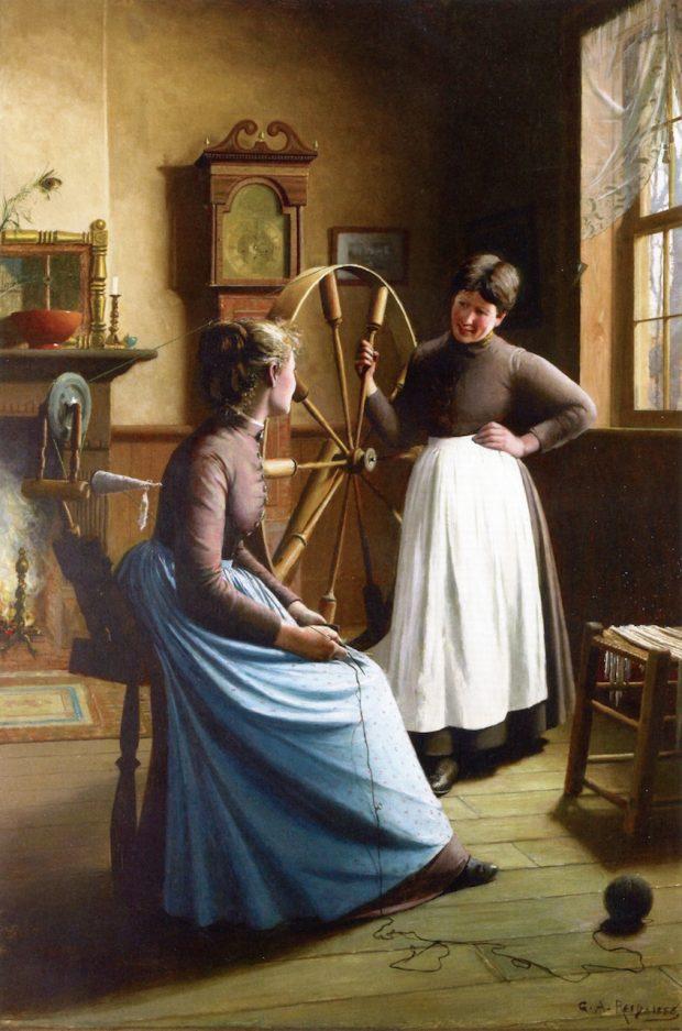 Gossip by George Agnew Reid 1888. Art Gallery of Hamilton Ontario e1507238315369