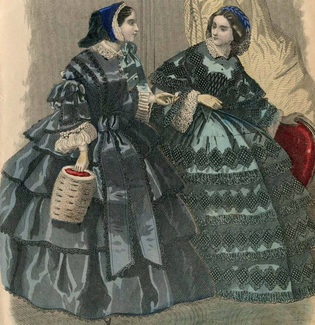Les Modes Parisiennes 1858 via Met Museum e1511745403663