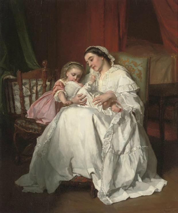 The New Arrival by Jules Trayer 1862