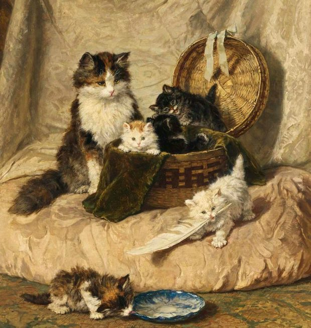 Kittens at Play by Henriette Ronner Knip 1821 1909. e1517276180652