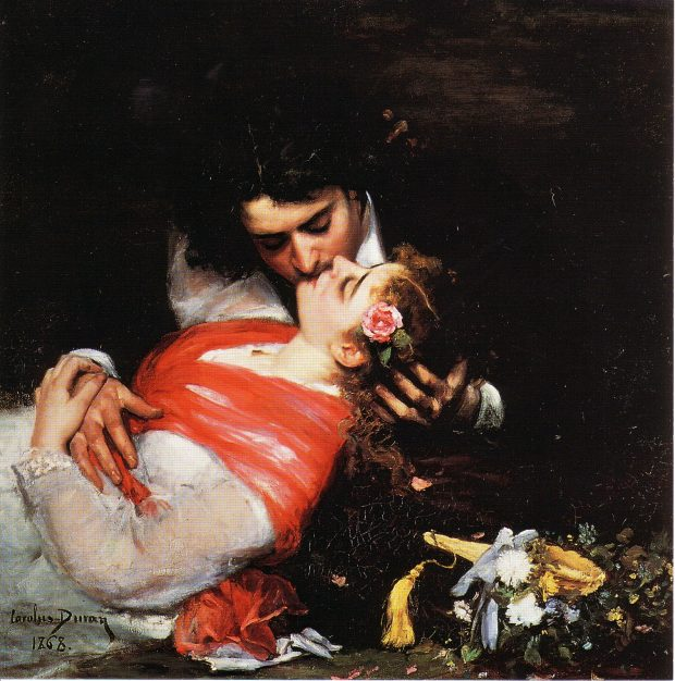 The Kiss by Carolus Duran 1868 e1515401062667