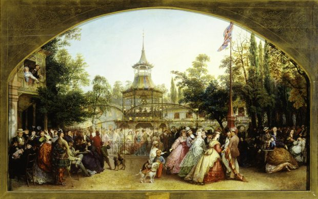 The Dancing Platform at Cremorne Gardens by Phoebus Levin 1864. e1519592944182