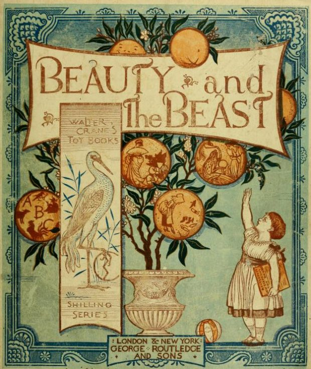 Cover of Beauty and the Beast An Illustrated Picture Book by Walter Crane 1874 e1526847209265