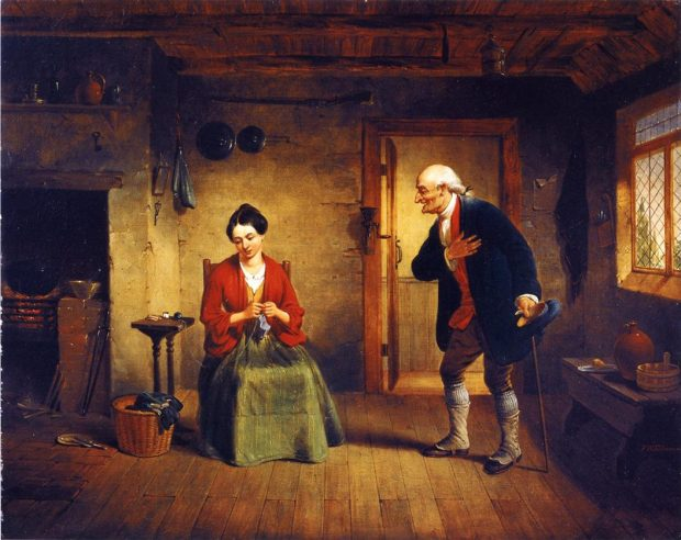 The Rejected Suitor by Francis William Edmonds c. 1850 1853 e1525653428962