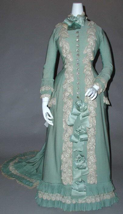 1890 French Silk Tea Gown via Met Museum