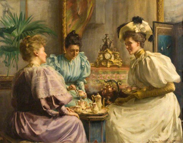 5 OClock Tea by David Comba Adamson 1859 1926 via Dundee Art Gallery and Museum e1531720084862