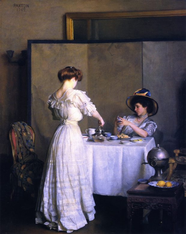 Tea Leaves by William Paxton 1909 via Met Museum e1531722287531