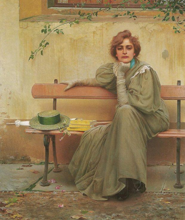 Sogni Dreams by Vittorio Matteo Corcos 1896 via Galleria Nazionale dArte Moderna e1535481215107