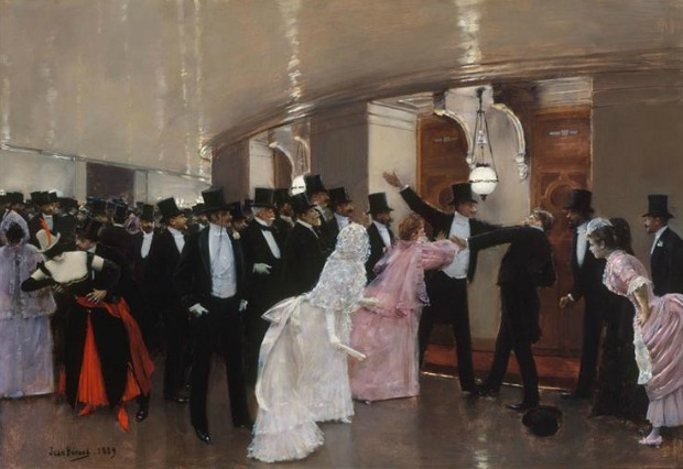 An Argument in the Corridors of the Opera by Jean Georges Beraud 1889