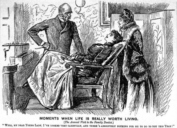 Caricature Moments when life is worth living Punch 1891 Wellcome Collection. CC BY 4.0 e1537127713616
