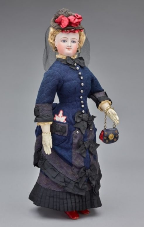 Miss G. Townsend Fashion Doll 1870s France. Gift of Edward Starr Jr. 1976 58 9. e1538954309162