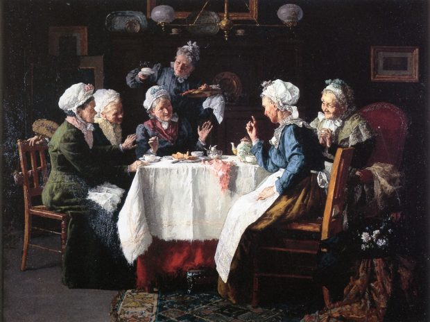 Tea Party by Louis Charles Moeller 1905 e1540766741246