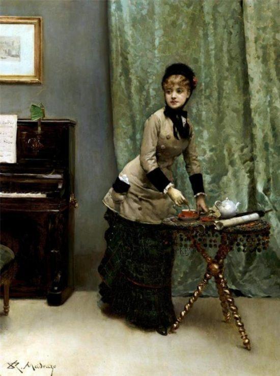 Teatime by Raimundo de Madrazo y Garreta n.d. via Museo Nacional de Bellas Artes de La Habana e1540769368468