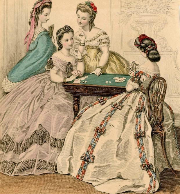 Rolled Hairstyles Le Miroir Parisien 1864 via Met Museum