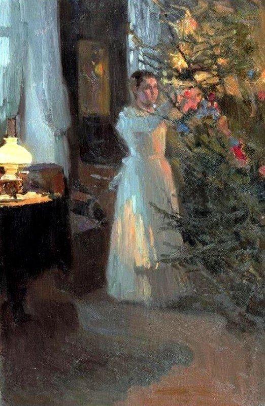 Christmas Tree by Alexei Korin 1910