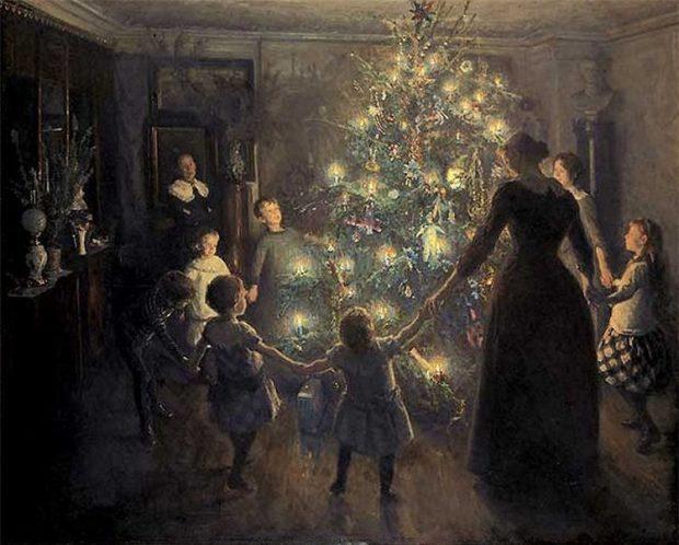 Happy Christmas by Viggo Johansen 1891 e1544470500415