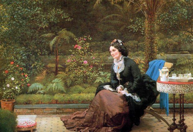 5 oclock Tea by George Dunlop Leslie circa 1874 e1549398768566